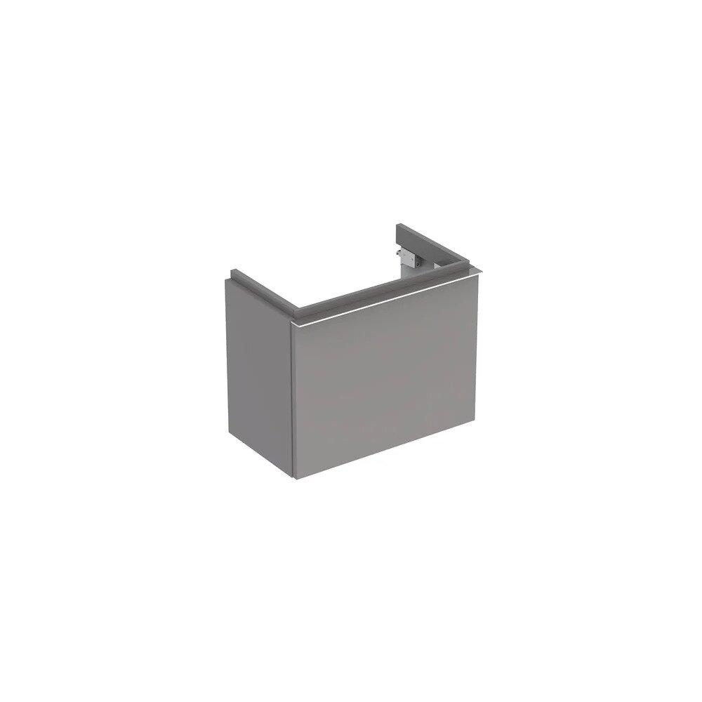 Dulap baza pentru lavoar suspendat gri Geberit Icon 1 sertar 52 cm imagine