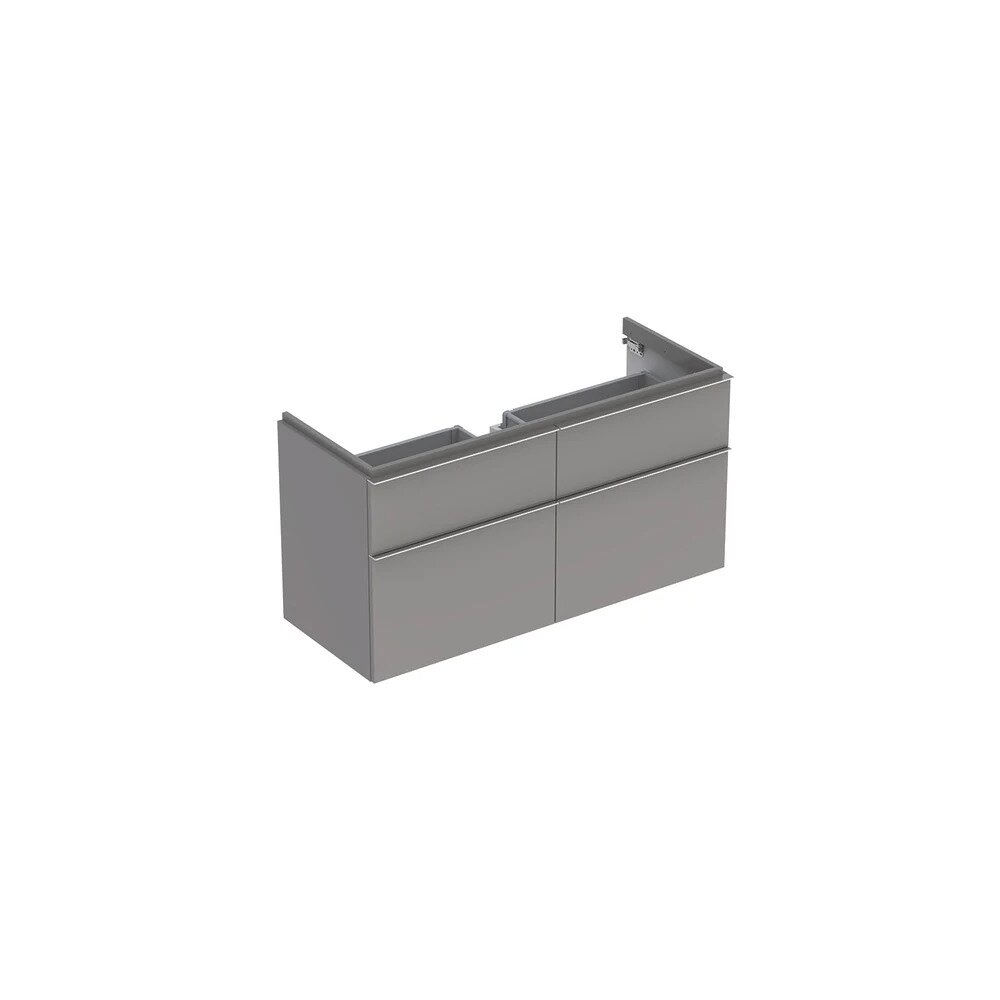 Dulap baza pentru lavoar suspendat gri Geberit Icon 4 sertare 119 cm imagine