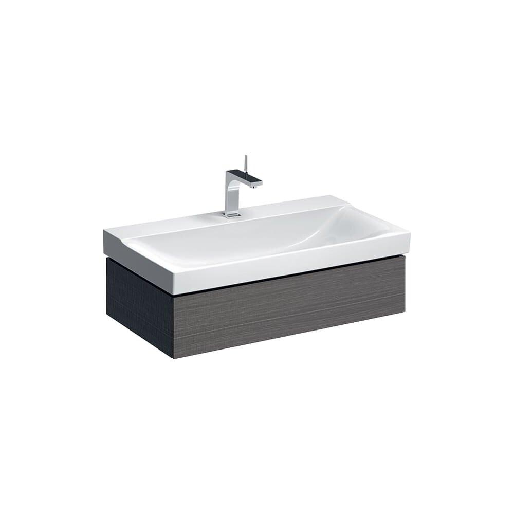 Dulap baza pentru lavoar suspendat gri Geberit Xeno² 1 sertar 88 cm