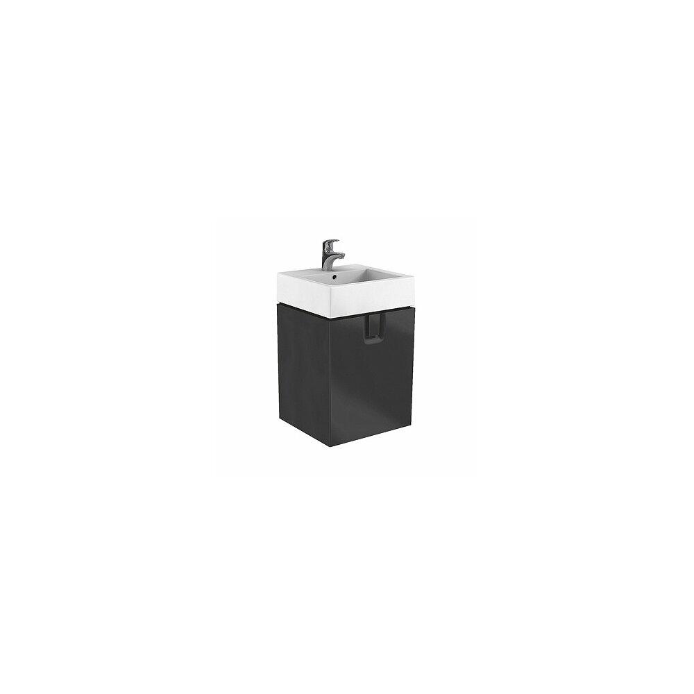 Dulap baza pentru lavoar suspendat Kolo Twins 50 cm, negru mat imagine
