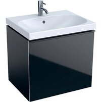 Dulap baza pentru lavoar suspendat negru Geberit Acanto 1 sertar 60 cm