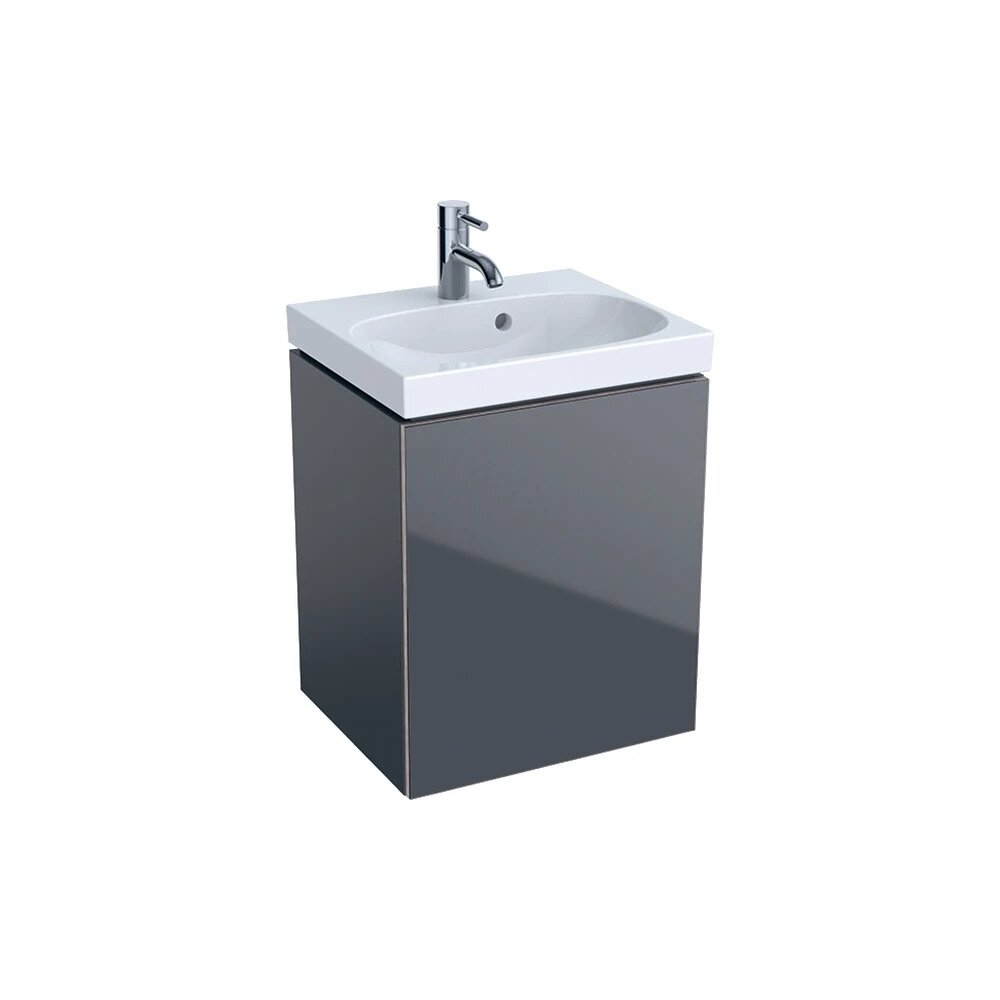 Dulap baza pentru lavoar suspendat negru Geberit Acanto 1 usa 45 cm