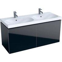 Dulap baza pentru lavoar suspendat negru Geberit Acanto 2 sertare 119 cm