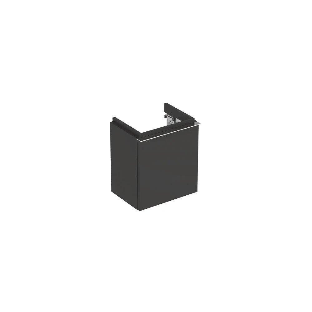 Dulap baza pentru lavoar suspendat negru Geberit Icon 1 usa opritor dreapta 37 cm neakaisa.ro