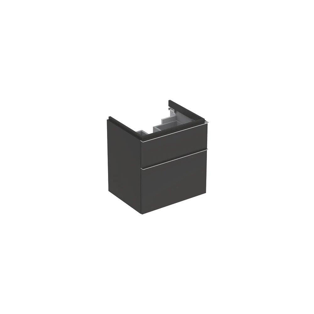 Dulap baza pentru lavoar suspendat negru Geberit Icon 2 sertare 60 cm neakaisa.ro
