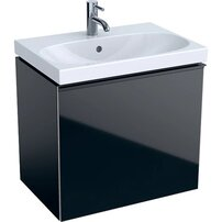 Dulap baza pentru lavoar suspendat proiectie mica negru Geberit Acanto 1 sertar 60 cm