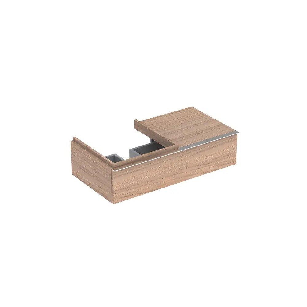 Dulap baza pentru lavoar suspendat stejar natural Geberit Icon 1 sertar si 1 blat stanga 89 cm imagine neakaisa.ro