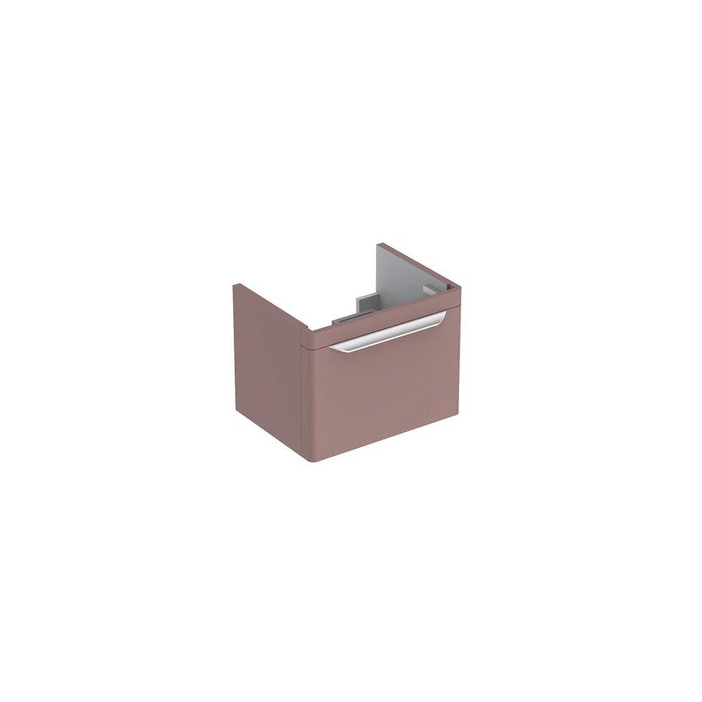 Dulap baza pentru lavoar suspendat taupe Geberit Myday 1 sertar 54 cm
