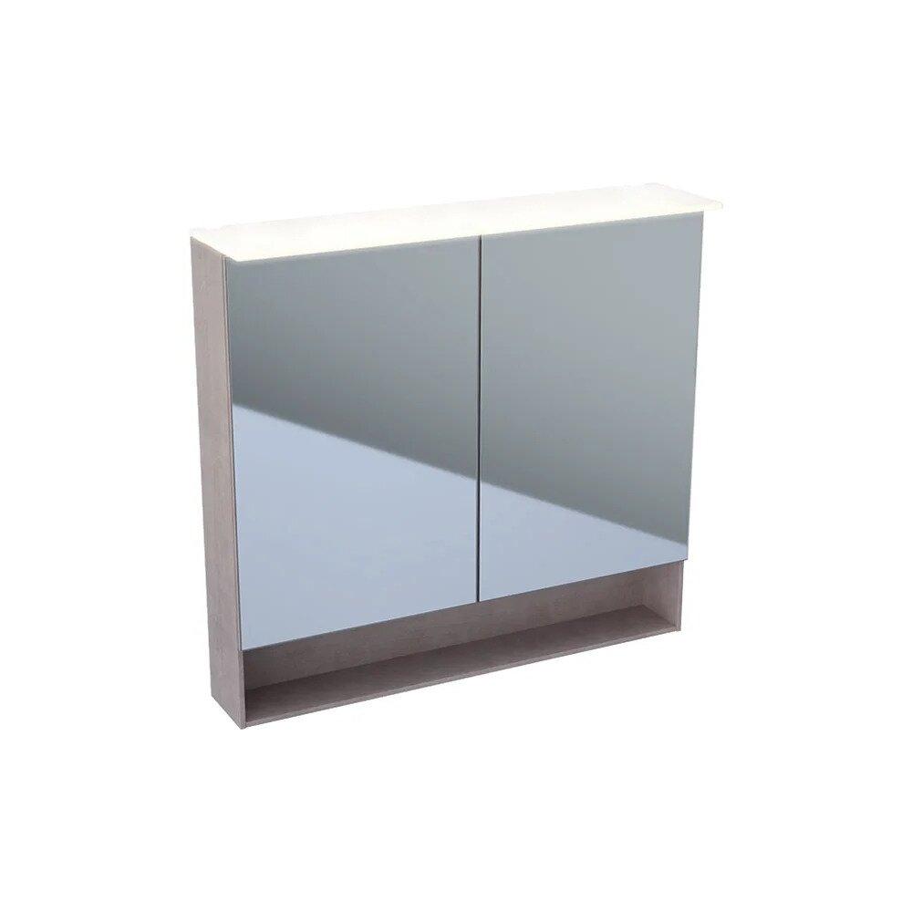 Dulap cu oglinda suspendat cu iluminare LED Geberit Acanto 2 usi 90 cm imagine neakaisa.ro