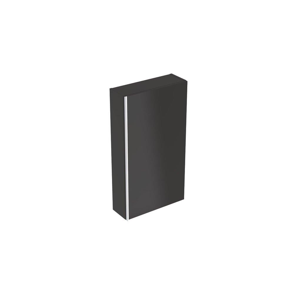 Dulap lateral suspendat negru Geberit Acanto 1 usa 45 cm neakaisa.ro