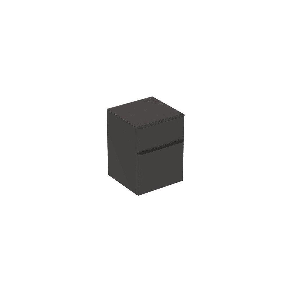 Dulap mediu suspendat Geberit Smyle Square negru 2 sertare 45 cm neakaisa.ro