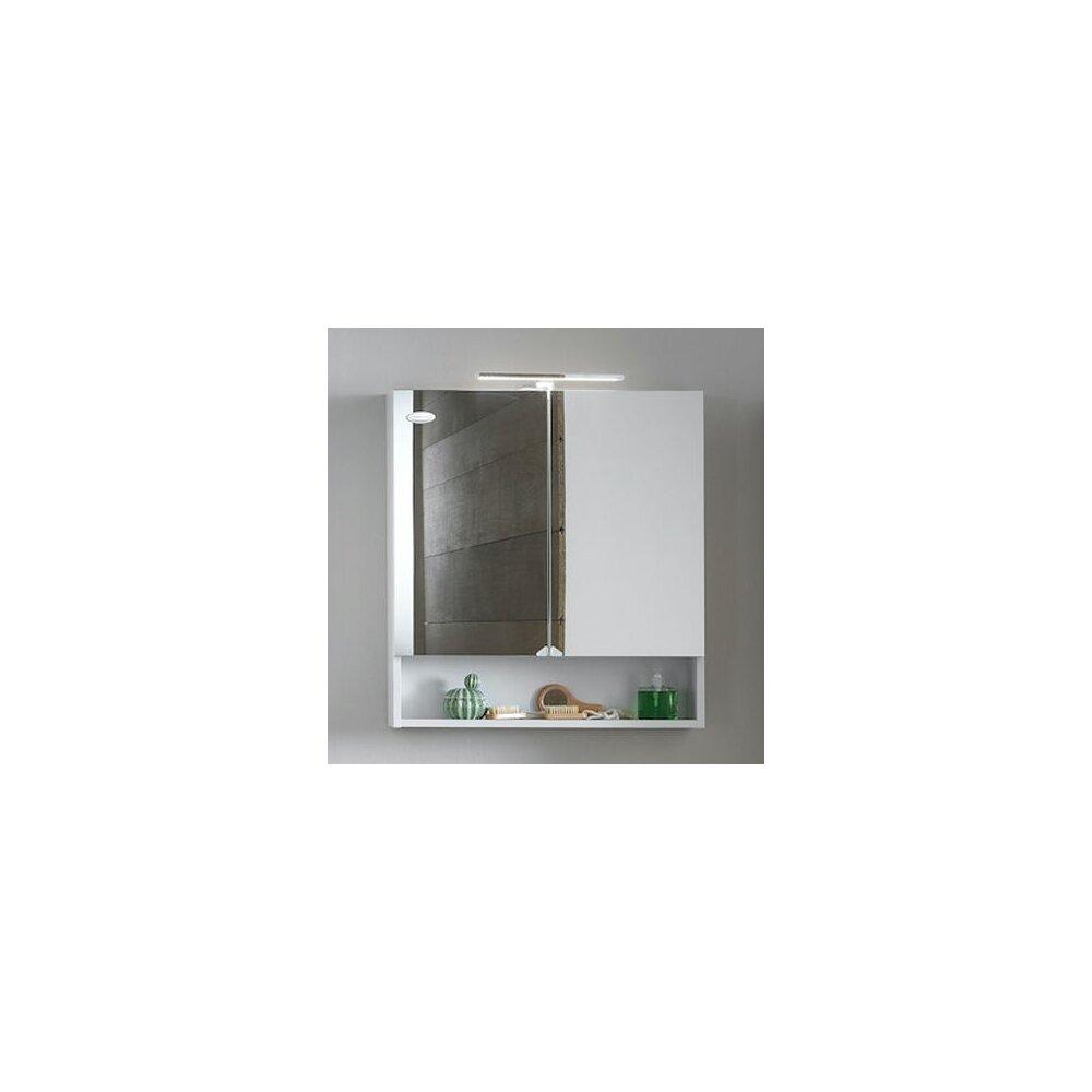 Dulap suspendat cu oglinda KolpaSan Evelin mdf alb 70x80 cm imagine