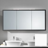 Dulap suspendat cu oglinda KolpaSan Blanche alb mat 145 cm