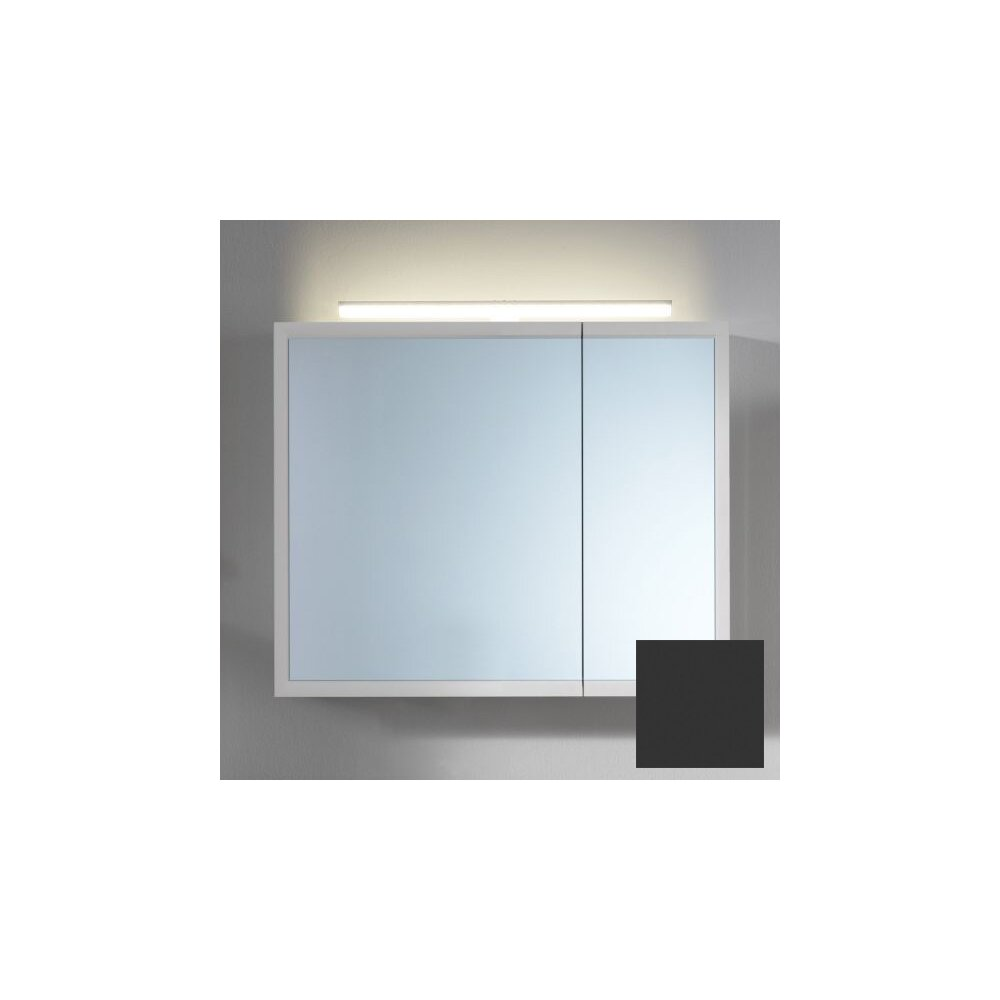 Dulap suspendat cu oglinda KolpaSan Blanche antracit 70 cm neakaisa.ro