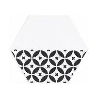 Faianta hexagonala alb-negru Kerama Marazzi Buranelli A208