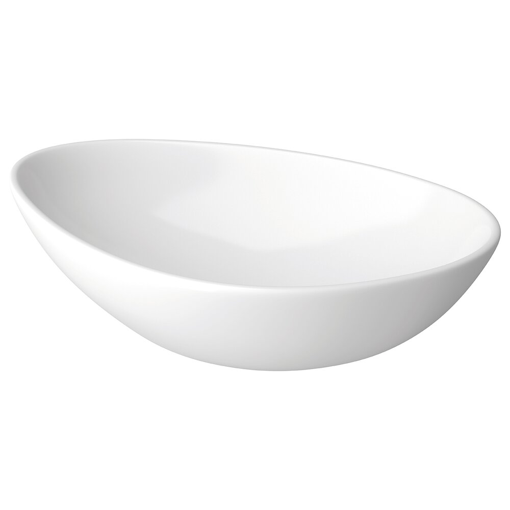 Lavoar asimetric alb pe blat Cersanit Moduo 56,5 cm imagine neakaisa.ro