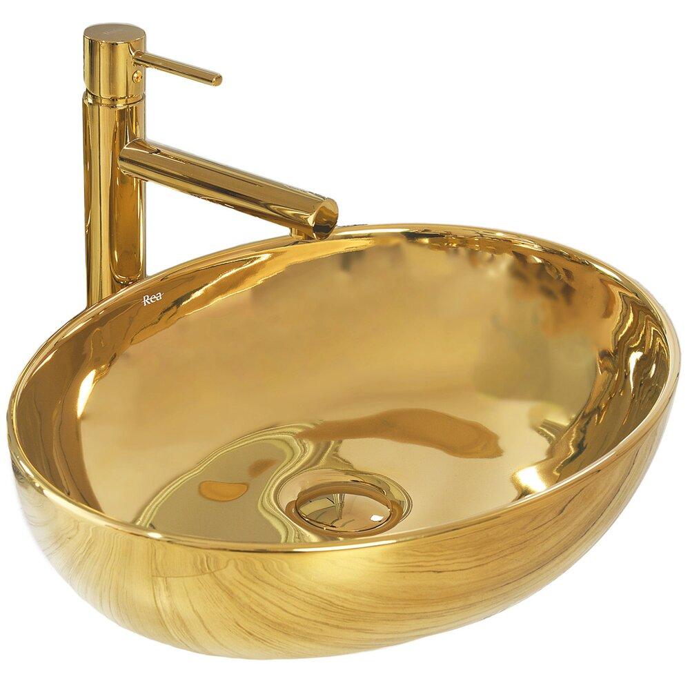 Lavoar auriu pe blat Rea Carola Slim 51 cm imagine