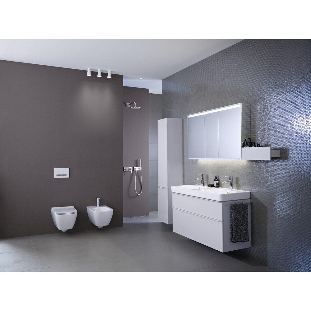 Lavoar dublu pe mobilier Geberit Smyle Square 120 cm fara orificiu baterie imagine