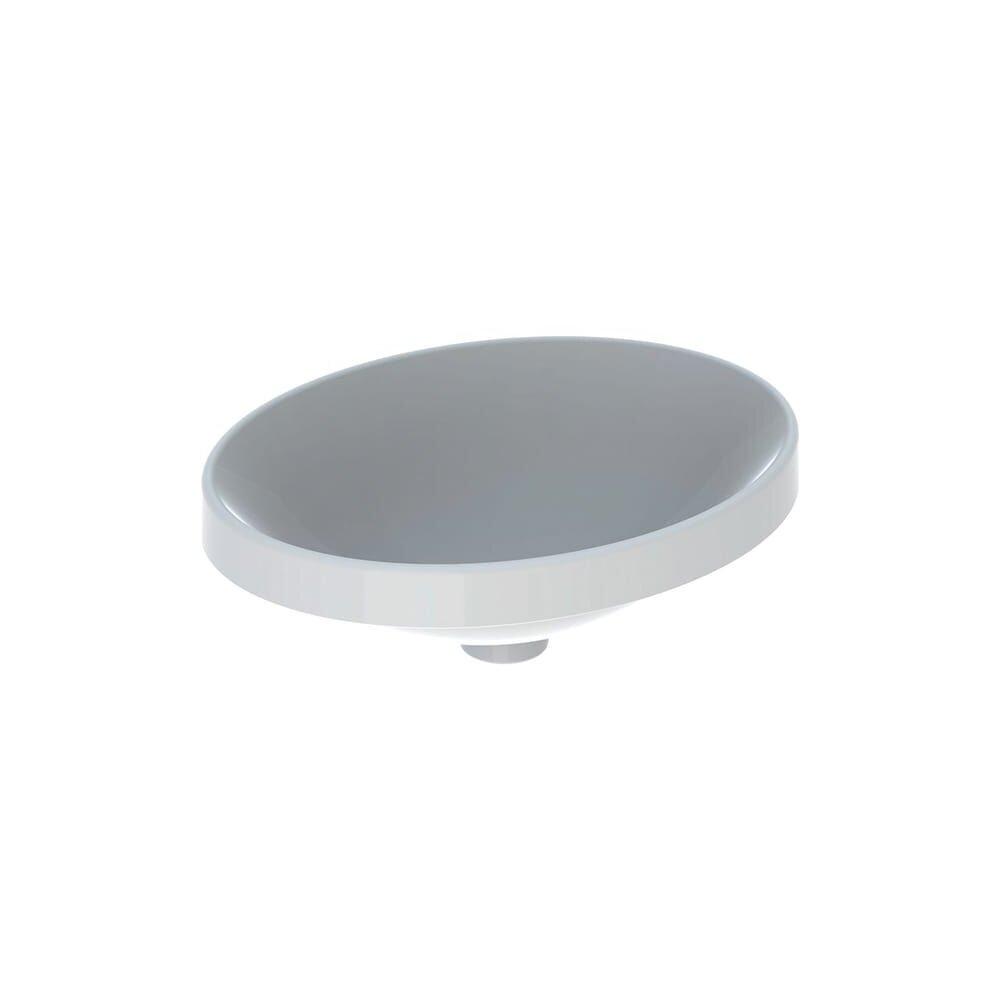 Lavoar incastrat Geberit Variform 50 cm fara orificiu preaplin oval imagine