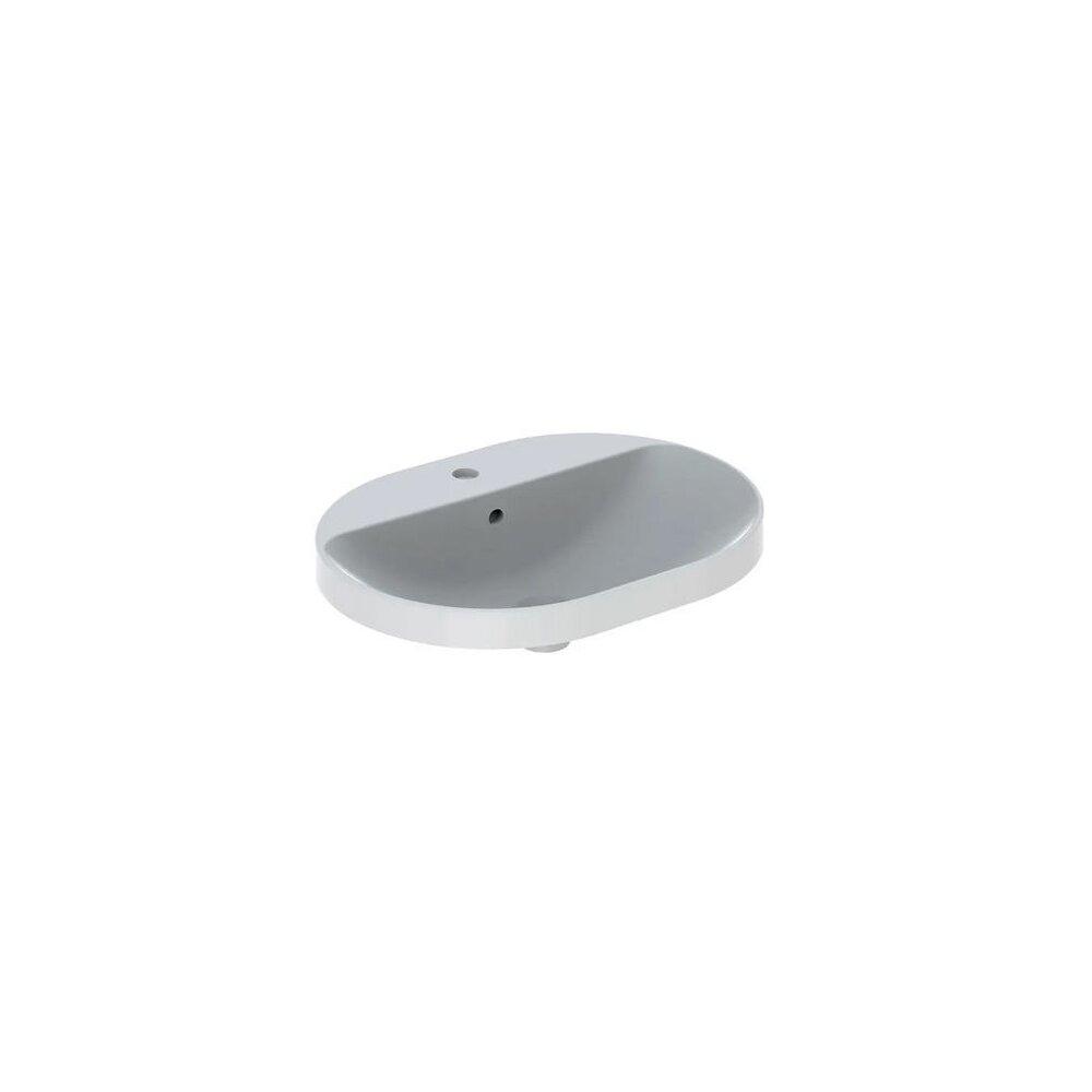 Lavoar incastrat Geberit Variform eliptic cu preaplin 60x45 cm imagine
