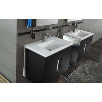 Lavoar pe mobilier Kolo Twins slim 80x46 cm