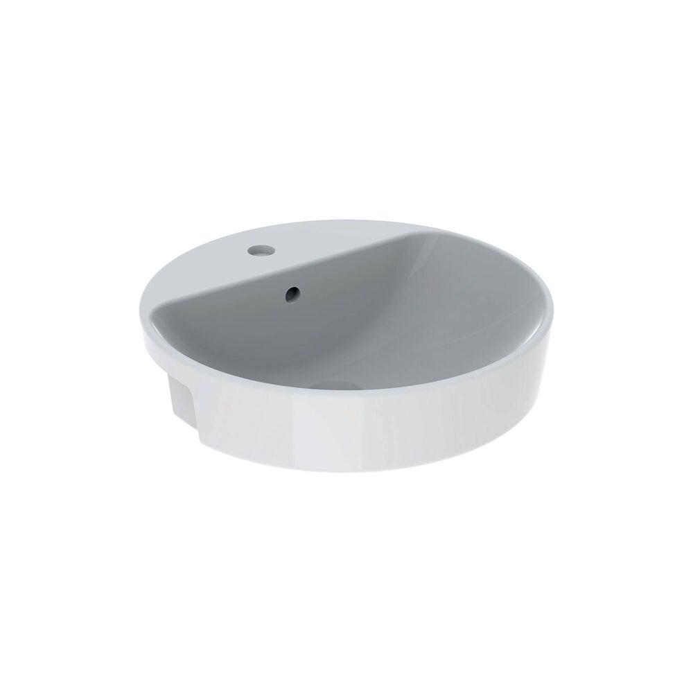 Lavoar pe blat Geberit Variform 50 cm cu orificiu baterie cu orificiu preaplin imagine