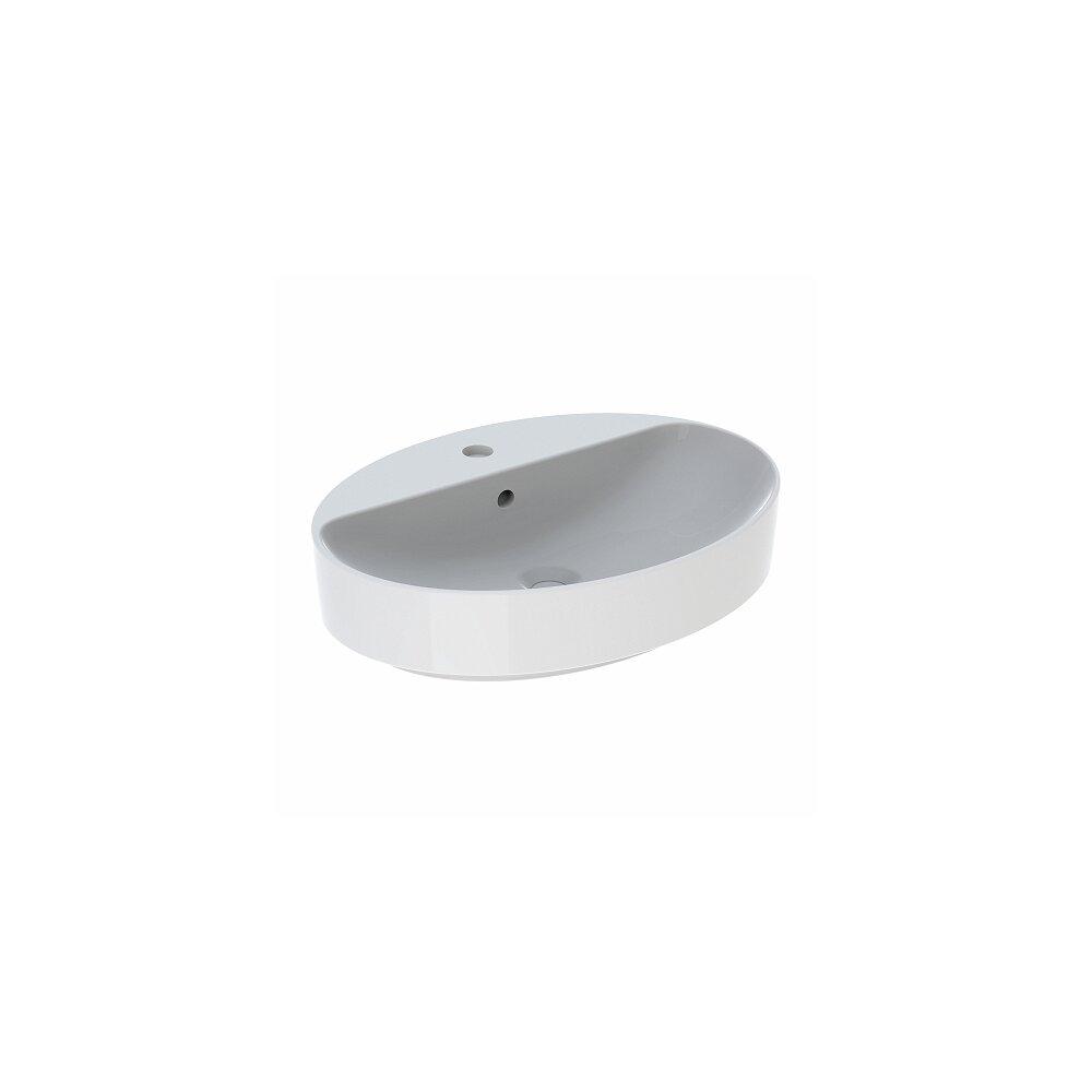 Lavoar pe blat Geberit Variform oval cu preaplin 60x45 cm imagine neakaisa.ro