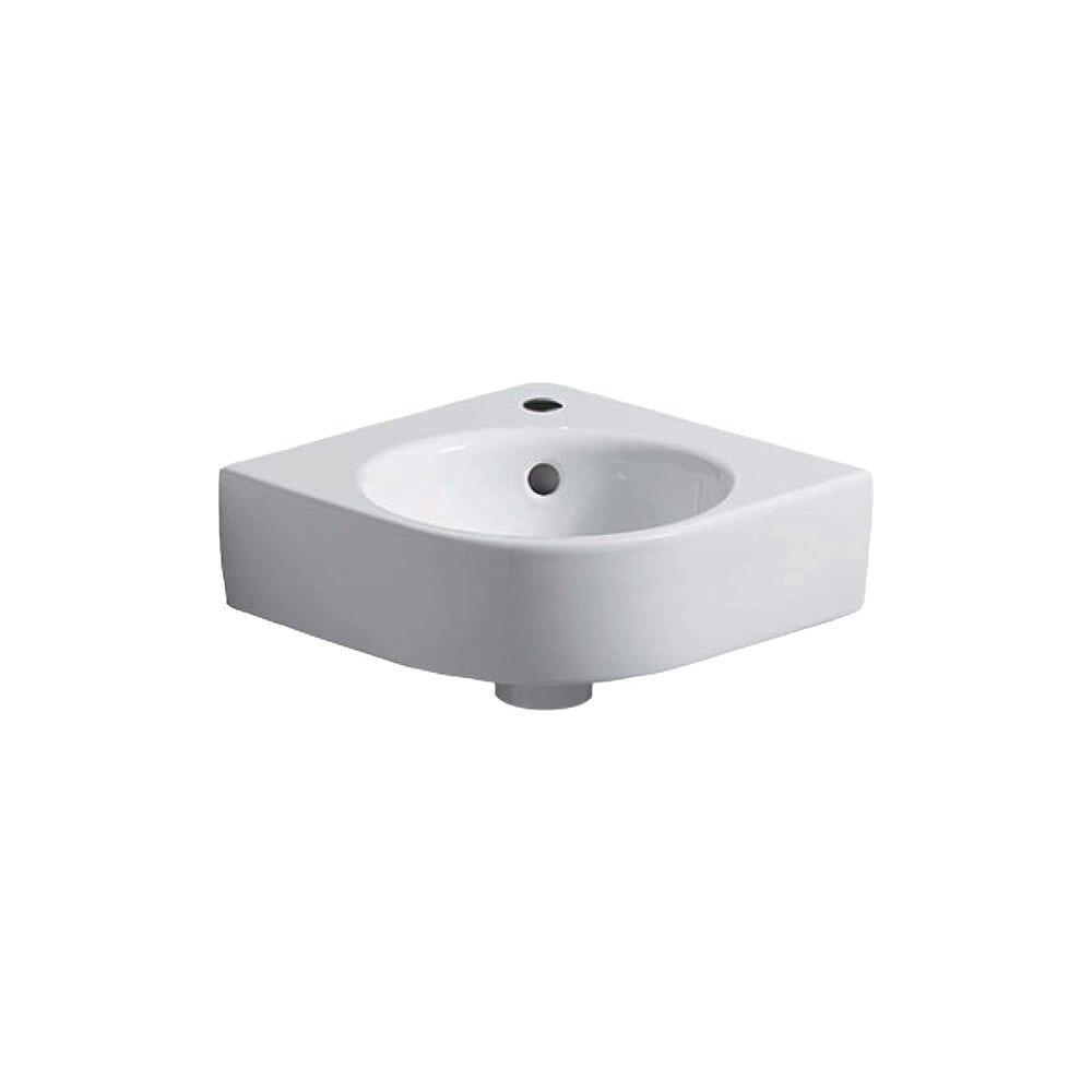 Lavoar pe colt pe blat Selnova Compact 45 cm cu orificiu robinet
