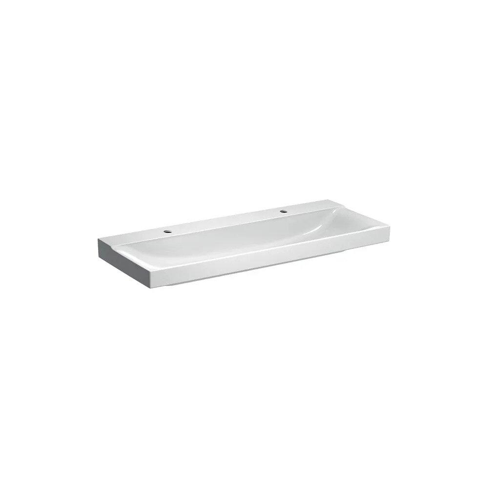 Lavoar pe mobilier Geberit Xeno² 120 cm cu orificiu baterie stanga si dreapta imagine
