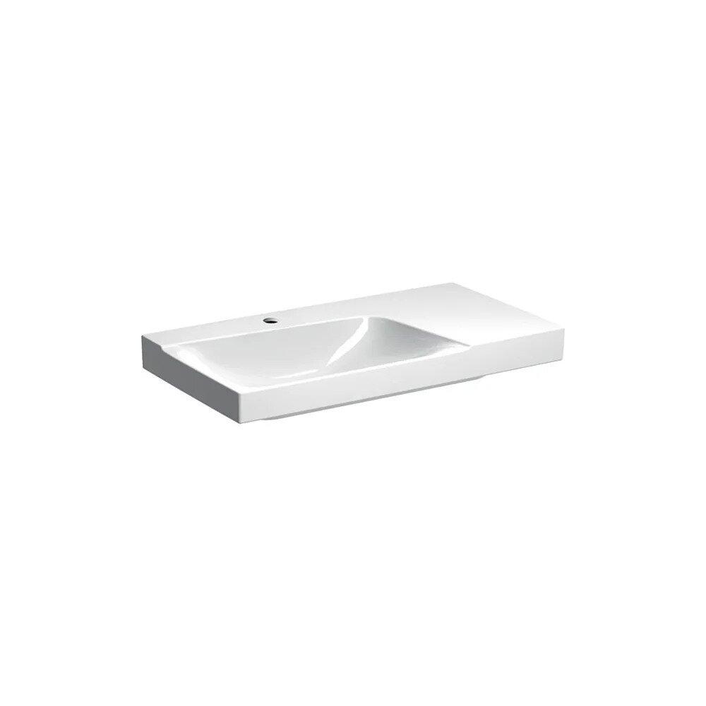Lavoar pe mobilier Geberit Xeno² 90 cm cu blat dreapta cu orificiu baterie