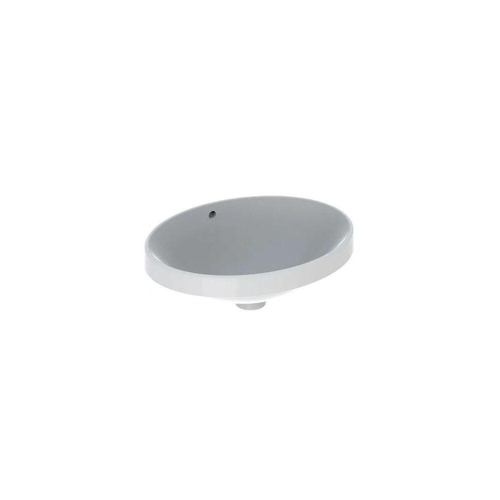 Lavoar semiincastrat Geberit Variform oval cu preaplin 50x40 cm imagine