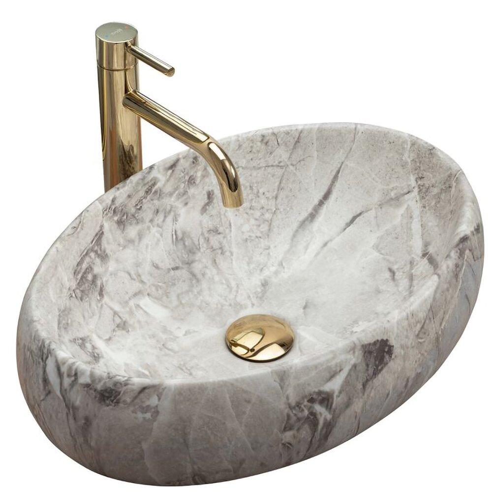 Lavoar stil piatra gri pe blat Rea Linda Stone 48,3 cm imagine neakaisa.ro