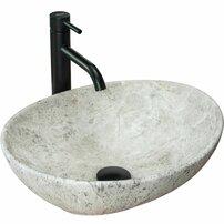 Lavoar stil piatra gri pe blat Rea Sofia Light Stone 41 cm