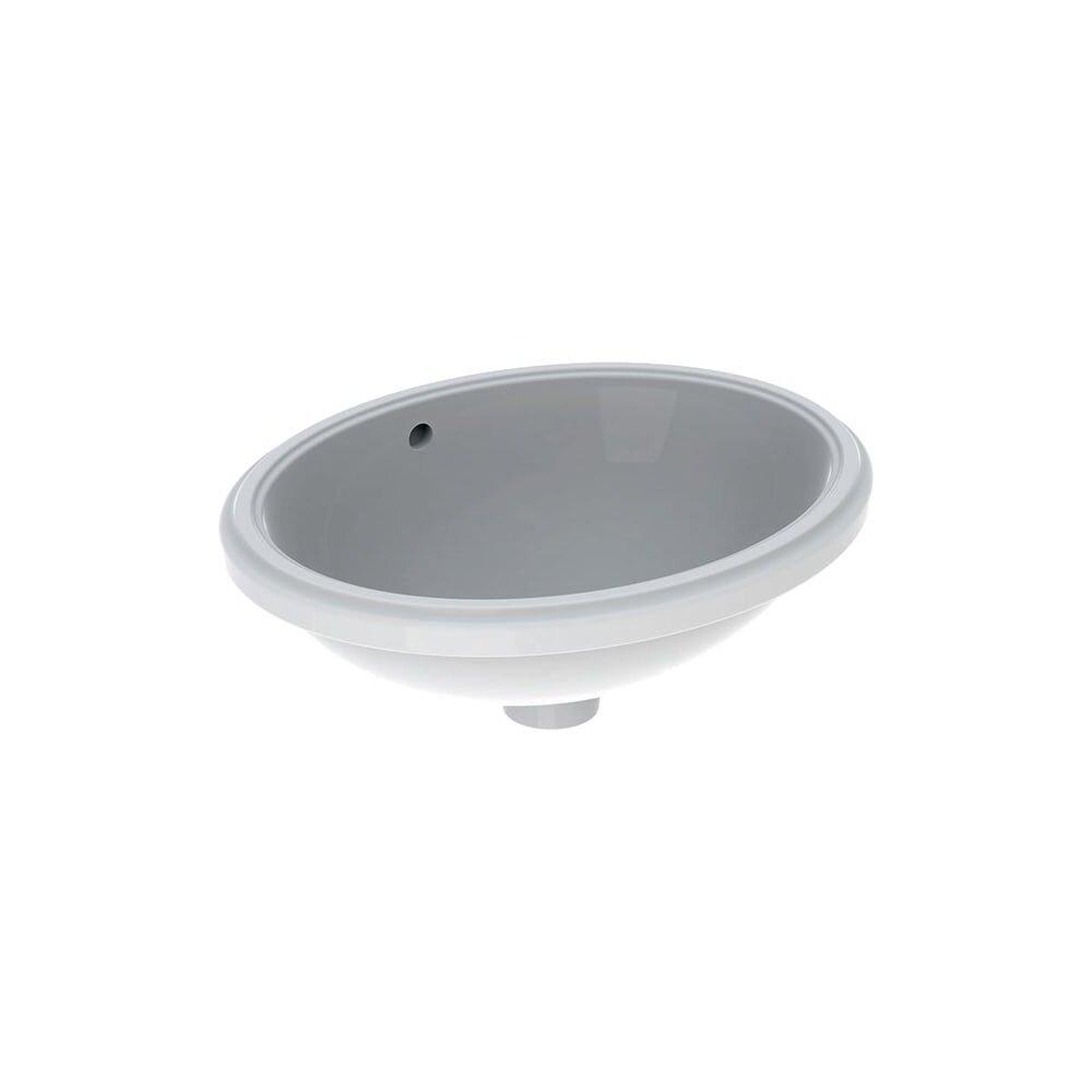 Lavoar sub blat Geberit Variform 48 cm fara orificiu baterie cu orificiu preaplin imagine