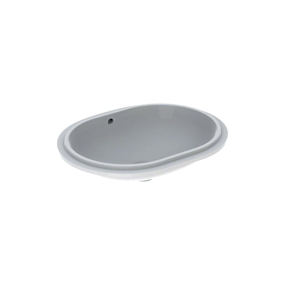Lavoar sub blat Geberit Variform 61 cm fara orificiu baterie cu orificiu preaplin
