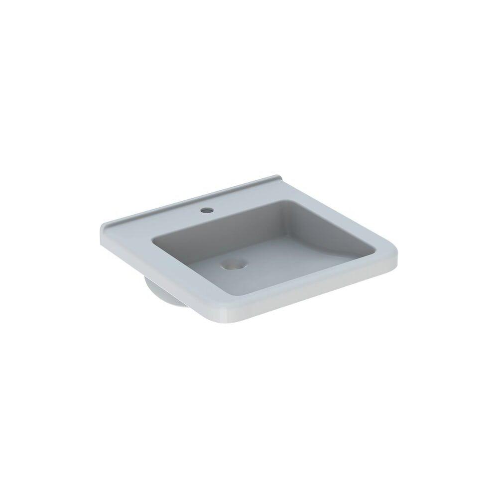 Lavoar suspendat Geberit Selnova Comfort Square 55 cm cu orificiu baterie fara orificiu preaplin poza