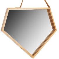 Oglinda asimetrica 49 cm Rea rama lemn YMJZ20216