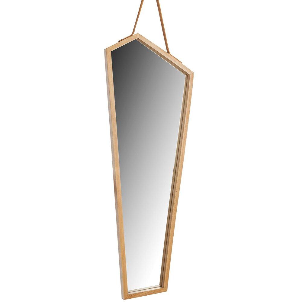 Oglinda asimetrica 85 cm Rea rama lemn YMJZ20217 poza