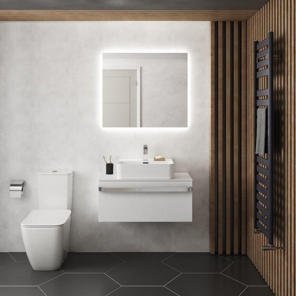 Oglinda cu iluminare si dezaburire Ideal Standard Mirror&Light Ambient 80x70 cm imagine neakaisa.ro