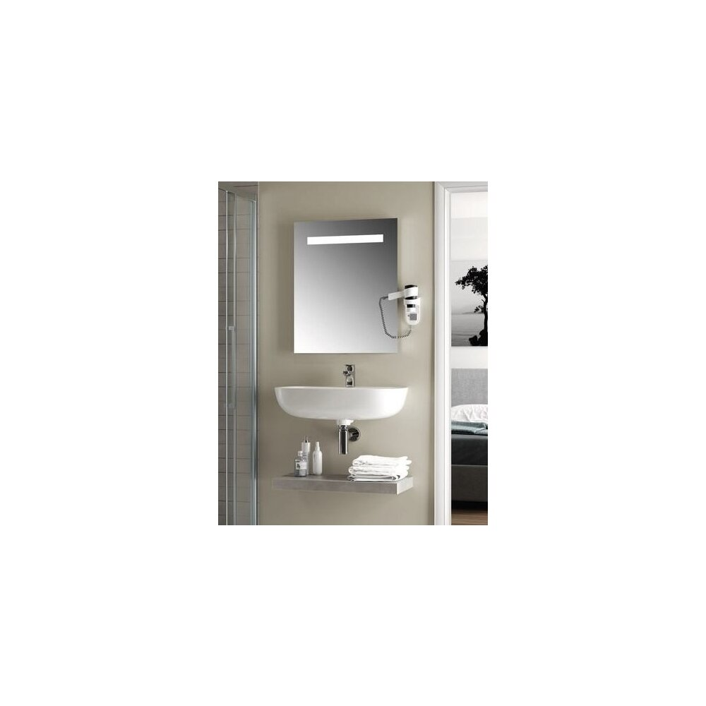Oglinda cu iluminare si dezaburire Ideal Standard Mirror&Light 80x70 cm imagine neakaisa.ro