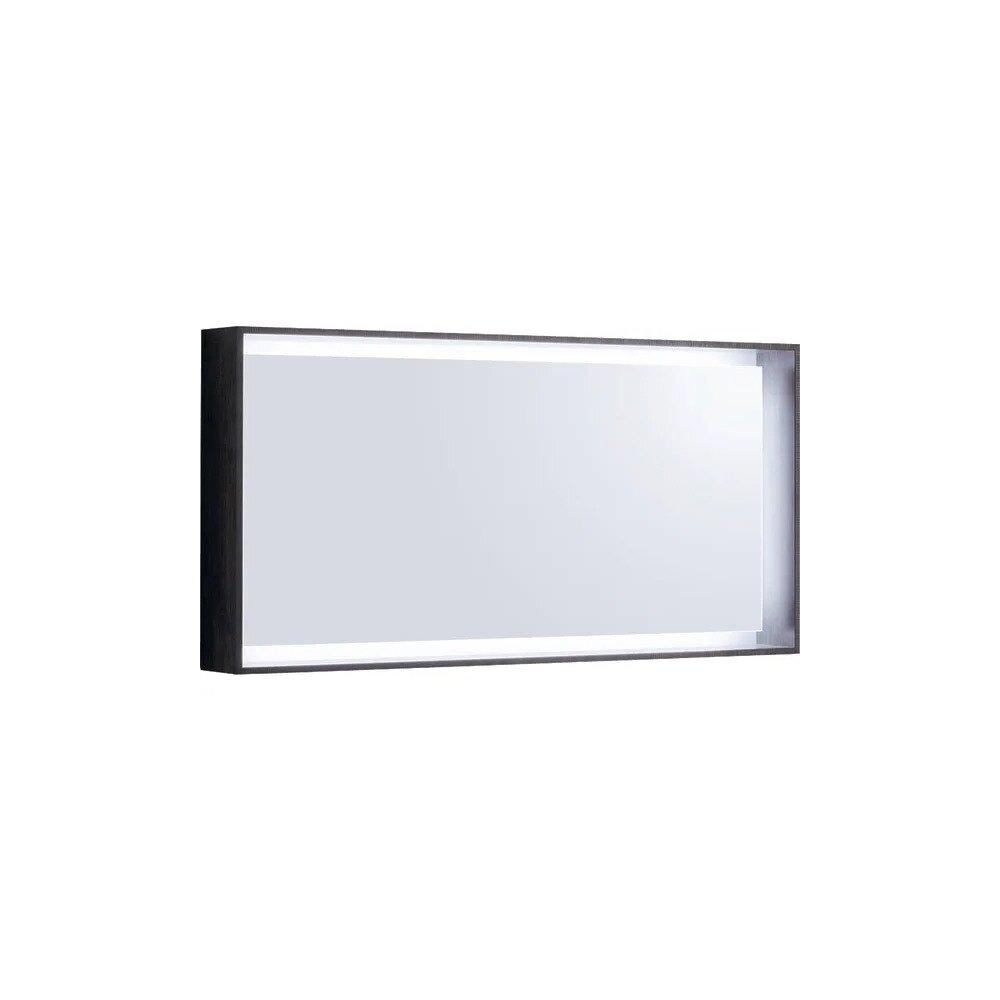 Oglinda cu iluminare LED Geberit Citterio maro/gri 119 cm neakaisa.ro