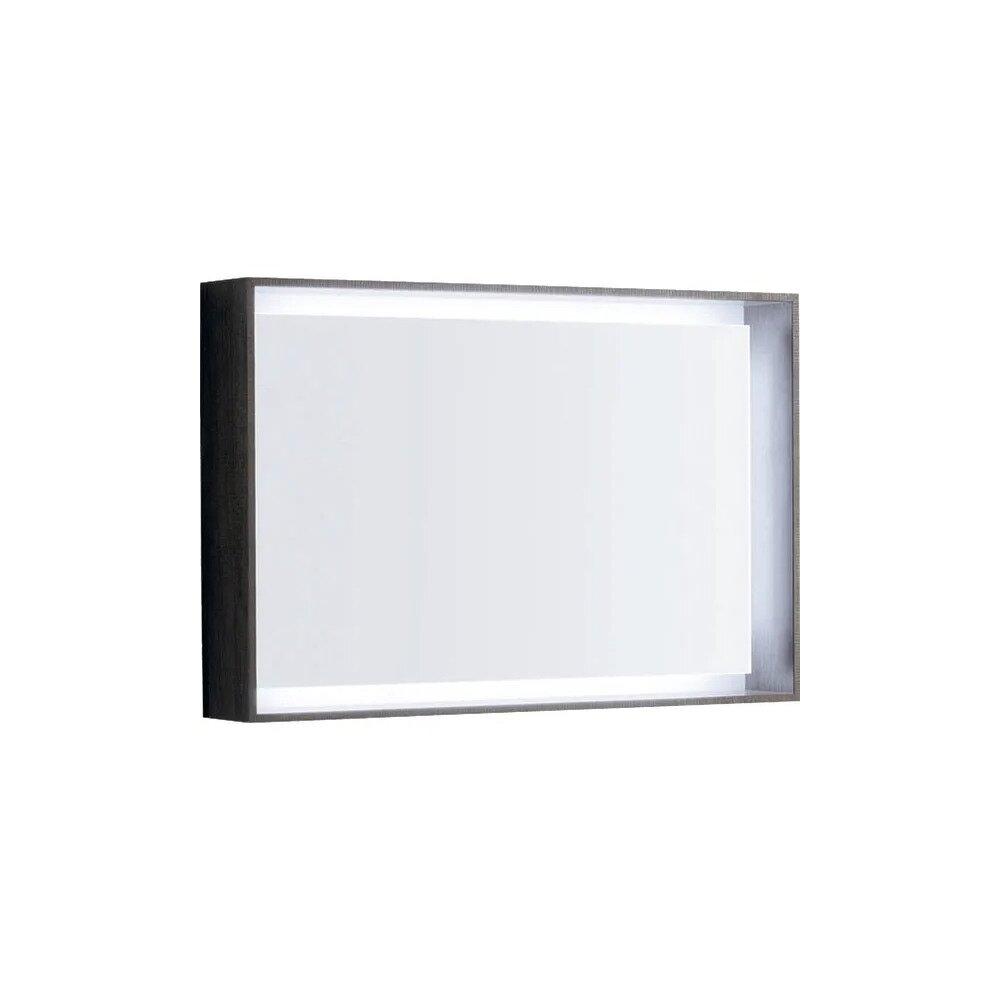 Oglinda cu iluminare LED Geberit Citterio maro/gri 89 cm imagine neakaisa.ro