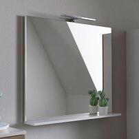 Oglinda cu etajera KolpaSan Evelin alb 65x70 cm
