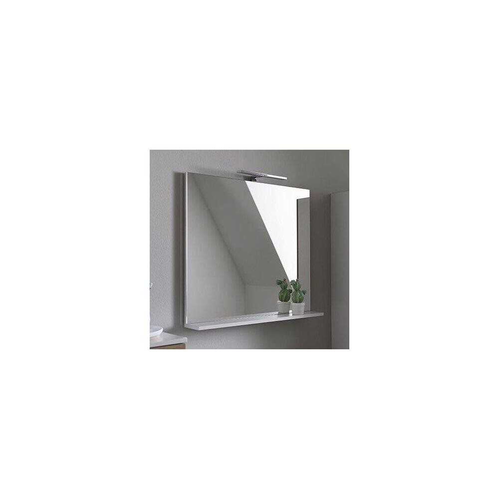 Oglinda cu etajera KolpaSan Evelin alb 80x70 cm imagine neakaisa.ro