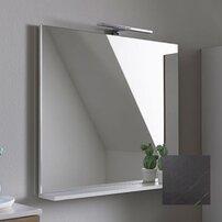 Oglinda cu etajera KolpaSan Evelin gri 80x70 cm