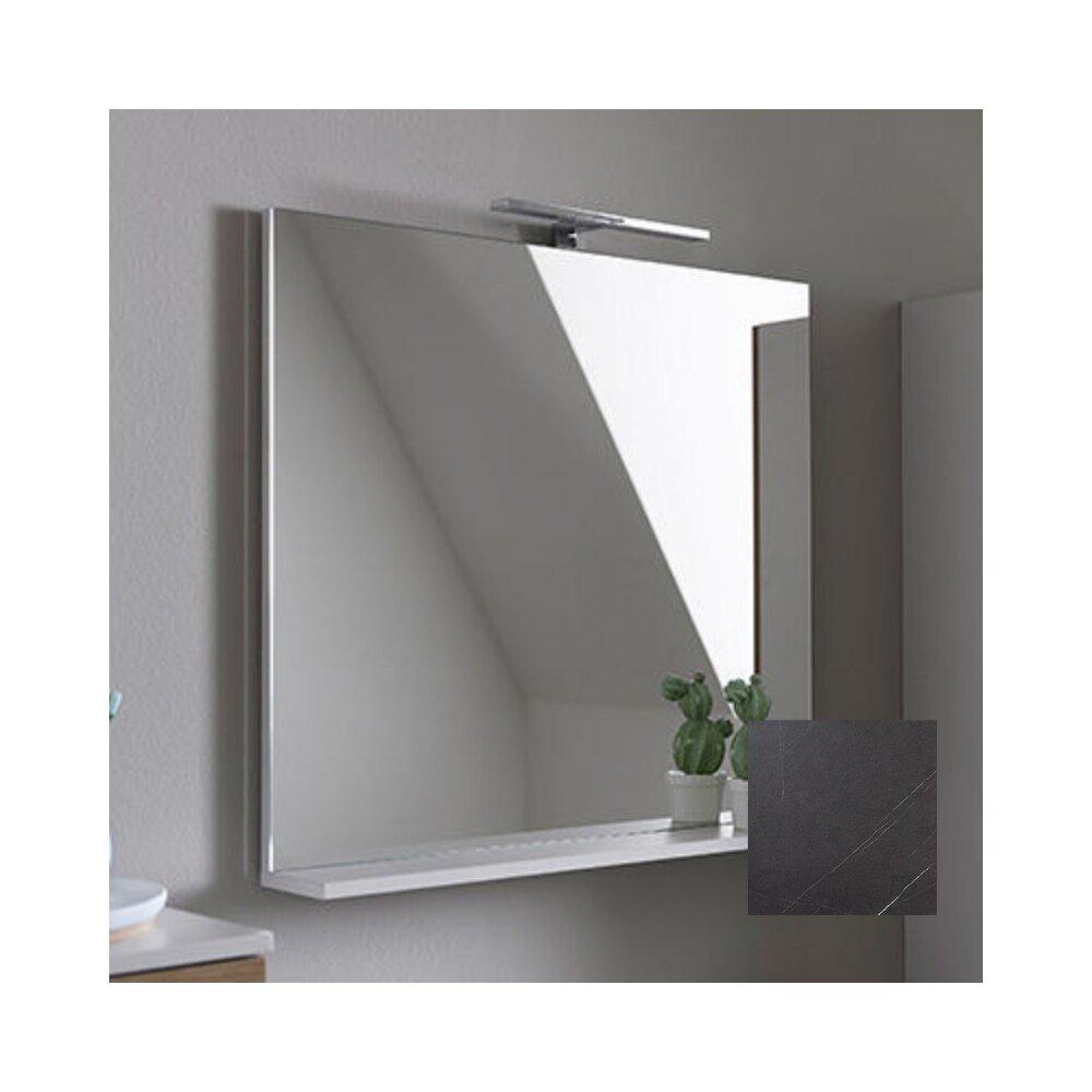 Oglinda cu etajera KolpaSan Evelin gri 80x70 cm imagine