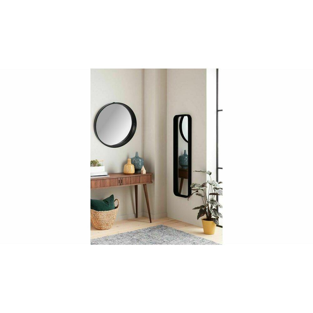 Oglinda rotunda 39 cm Rea rama tridimensionala neagra JZ-01 imagine neakaisa.ro