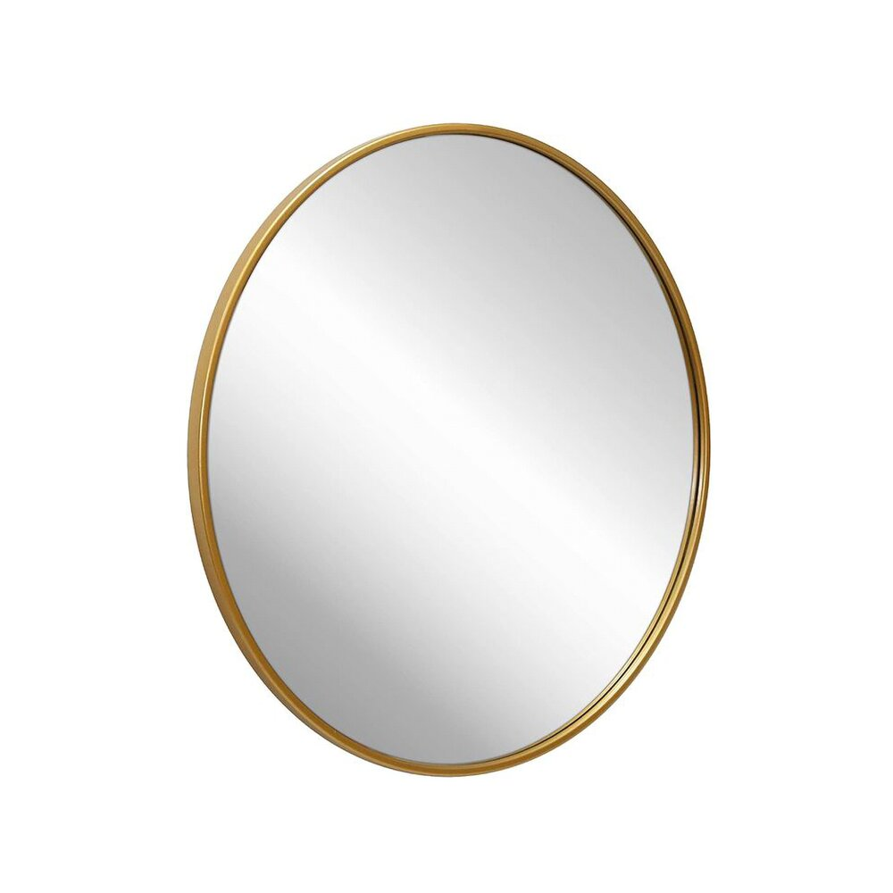 Oglinda rotunda 40 cm Rea rama slim aurie KLMH-0410G poza