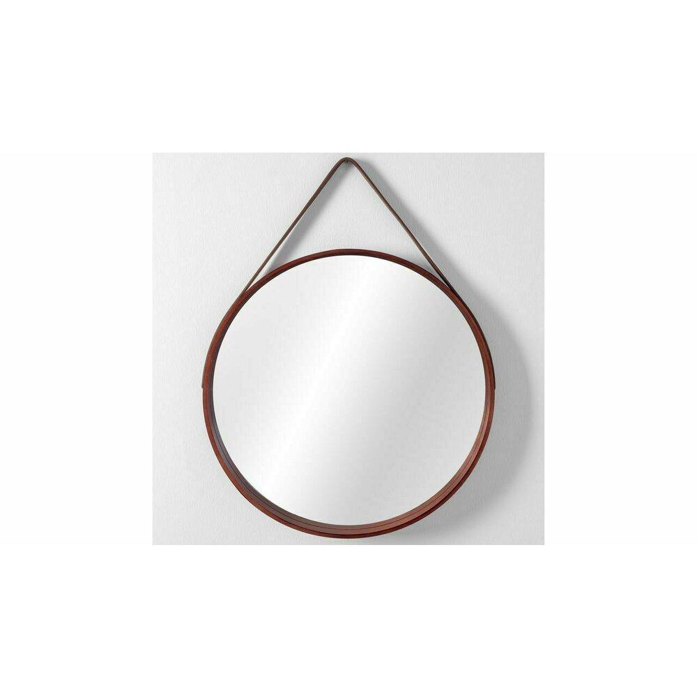 Oglinda rotunda 50 cm Rea curea maro NBKL-19028 imagine neakaisa.ro