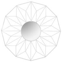 Oglinda rotunda 58 cm Rea rama alba tip paianjen MC60375 White